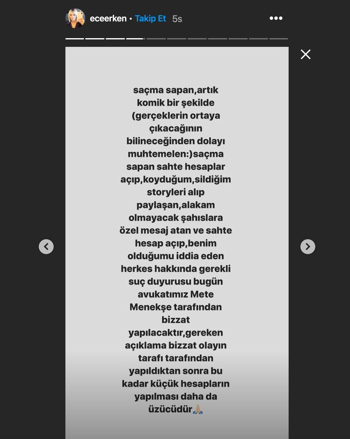 Ünlü sunucu hakkında bomba iddia! Ece Erken 'Soyadını sil ulan!' mesajı mı attı? - Sayfa:4