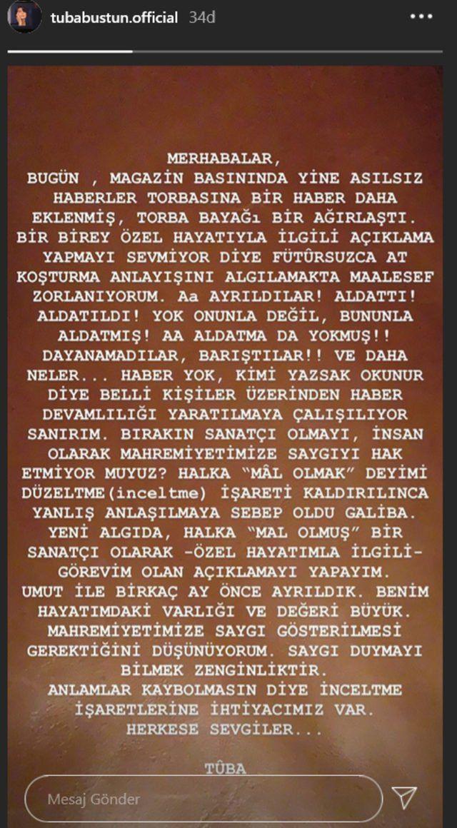 Tuba Büyüküstün'den flaş ayrılık açıklaması! - Sayfa:4