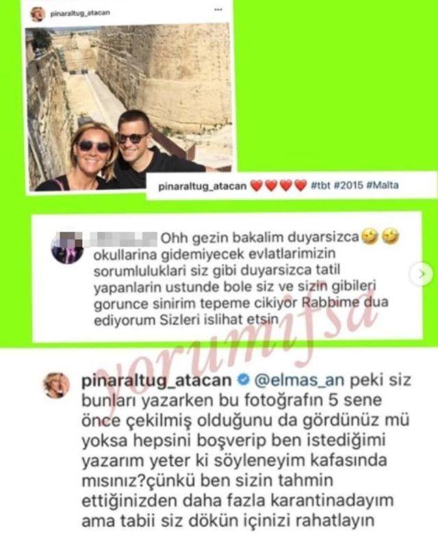 Pınar Altuğ ile takipçisinden büyük polemik - Sayfa:4