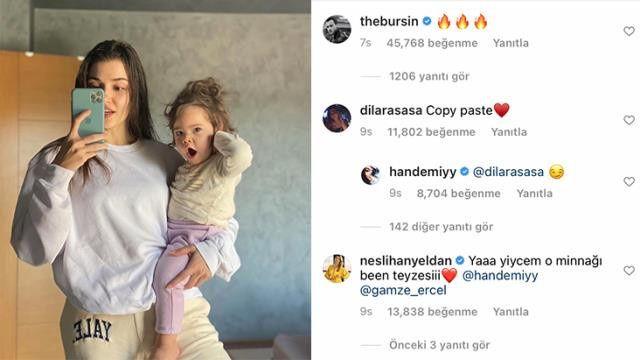 Hande Erçel'in duş sonrası paylaşımına beğeni yağdı! Kerem Bürsin de kayıtsız kalamadı - Sayfa:3
