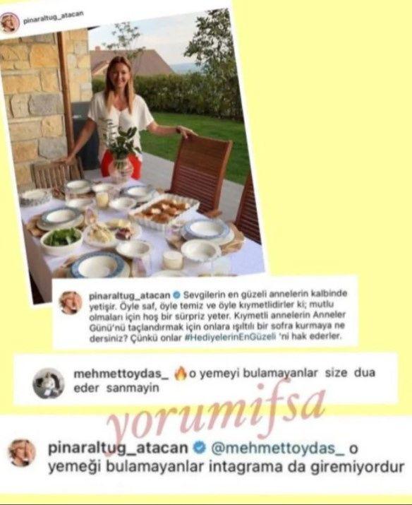 Pınar Altuğ yine takipçisiyle atıştı! Yemek paylaşımı olay oldu - Sayfa:3