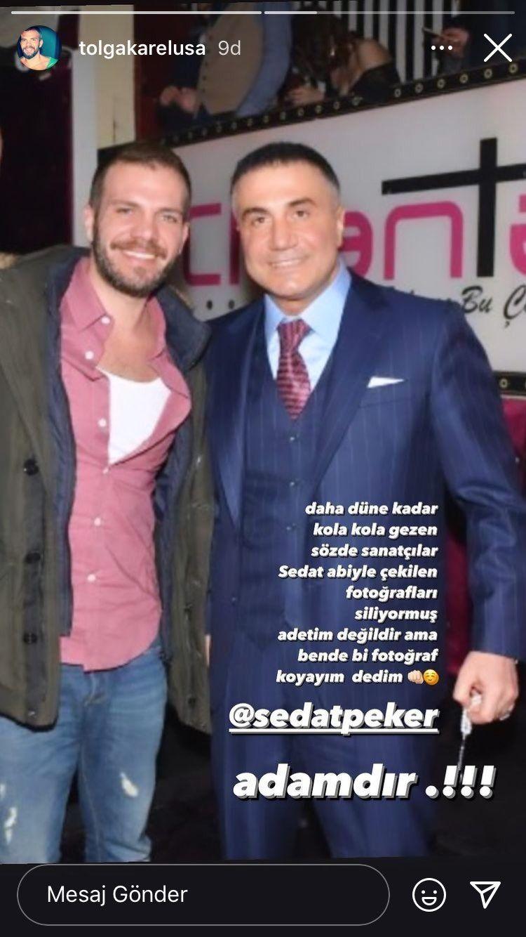 Tolga Karel, Sedat Peker ile fotoğrafını paylaştı: Sözde sanatçılar Sedat abiyle çekilen fotoğrafları siliyormuş - Sayfa:2