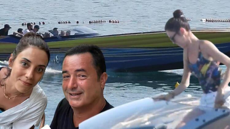 Çeşme'de Cansu Dere, Acun'un sürat teknesine bindi, son sürat koyları gezdiler... - Sayfa:1