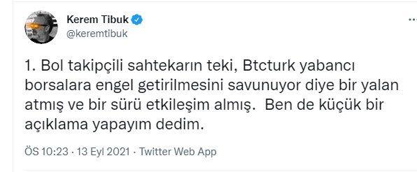 BtcTurk'un kurucusu Kerem Tibuk'tan iddialara sert tepki: Sahtekarın teki... - Sayfa:2