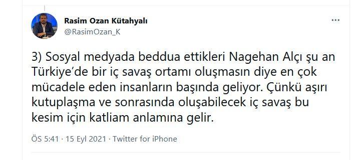 Rasim Ozan Kütahyalı'dan Nagehan Alçı ile ilgili çok tartışılacak paylaşımlar... İç savaş uyarısı yaptı, Alçı'yı örnek gösterdi - Sayfa:4