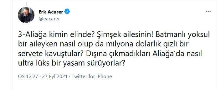 Sedat Peker'in tweetlerini paylaşan Erk Acarer'den yeni bomba paylaşımlar... Binali Yıldırım ve oğlu Erkam Yıldırım'ı hedef aldı - Sayfa:3