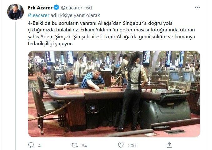 Sedat Peker'in tweetlerini paylaşan Erk Acarer'den yeni bomba paylaşımlar... Binali Yıldırım ve oğlu Erkam Yıldırım'ı hedef aldı - Sayfa:4