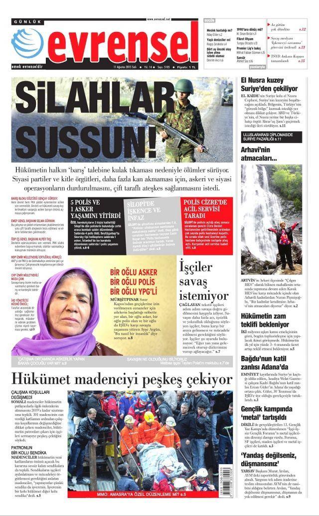 Manşetler de kana bulandı - Sayfa:1