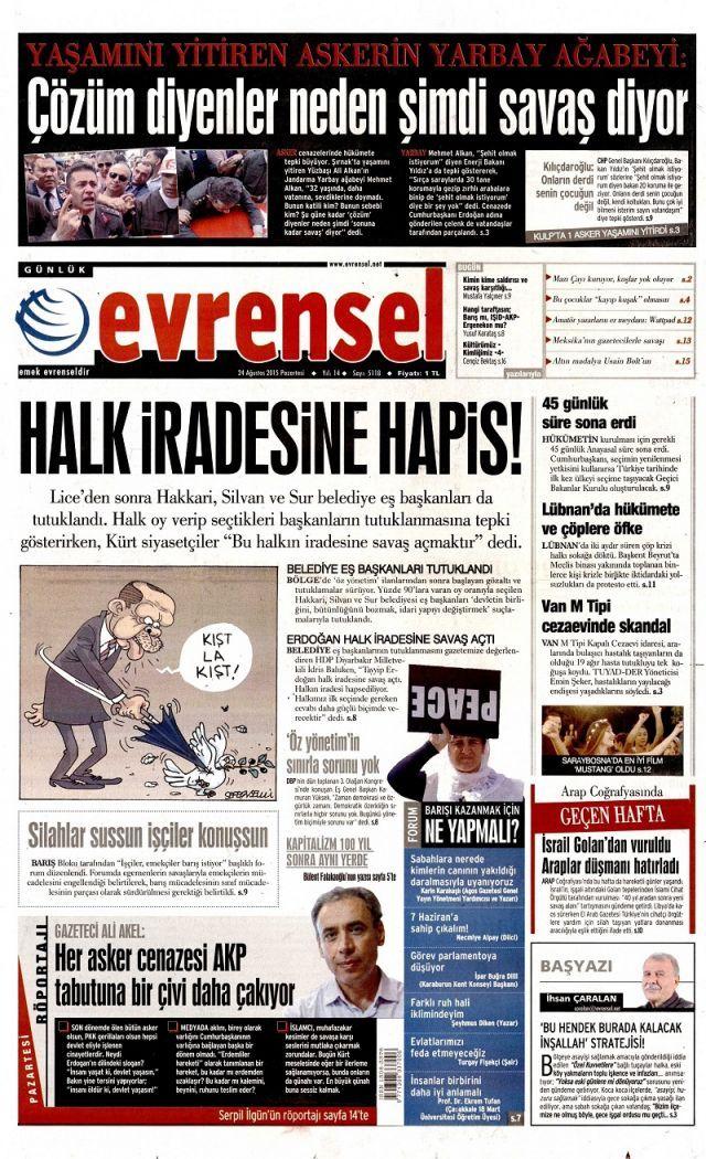 Yarbay Mehmet Alkan'ın isyanını hangi gazeteler görmedi? - Sayfa:1