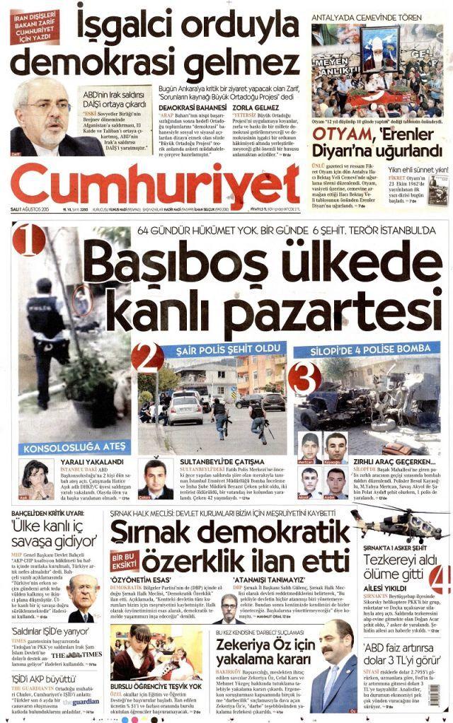 Manşetler de kana bulandı - Sayfa:3