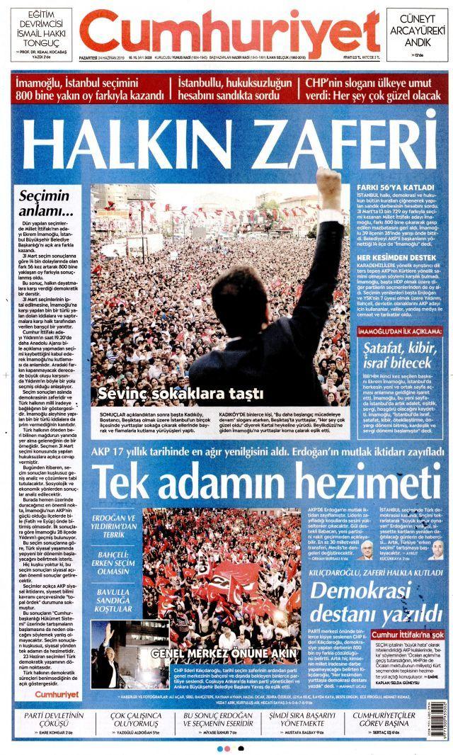 Ekrem İmamoğlu'nun tarihi zaferini gazeteler nasıl gördü? - Sayfa:4